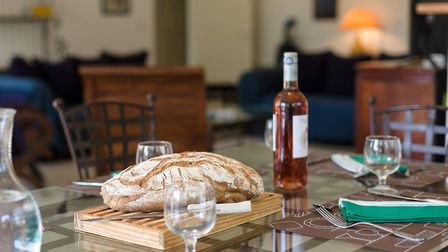 Stock up on local bread and wine