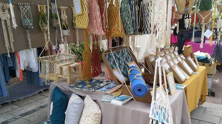 Hossegor outdoor market sells crafts, clothing and jewellery