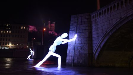 A beautiful installation at Lyon's light festival. Pic: Muriel Chaulet