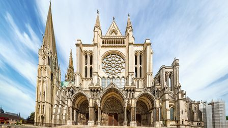 View of the south side of Cathedral of Our Lady of Chartres (c) ValeryEgorov/Getty Images