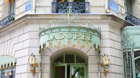 Outside Laduree's store on the Champs-Elysees. Pic: AndreaAstes/Getty