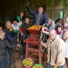 Cider fan Rene (top-centre) and the team. Pic: Michael Cranmer
