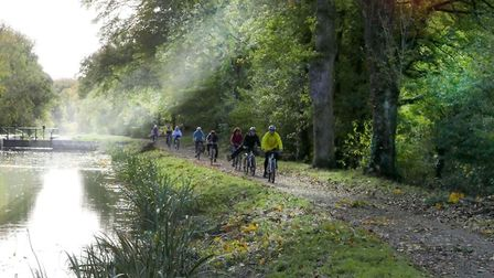 A peaceful cycle alongside the Nantes-Brest Canal. Pic: Michael Cranmer