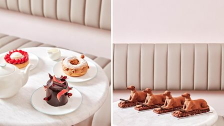 The Connaught hound has been reimagined in cake form