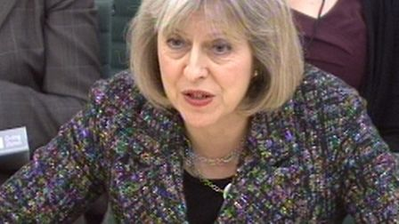 Home Secretary Theresa May answers questions during a Home Affairs Committee, Portcullis House, Lond