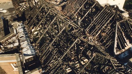 The day after the fire that badly damaged the Assembly House in 1995.