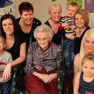 Audrey Russell, who is celebrating her 90th birthday with the other four generations of her family.