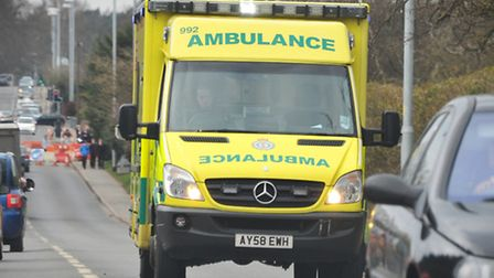 The man was taken to the James Paget Hospital