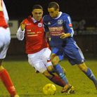 Remy Gordon was on target for Wroxham during their 3-0 win against Soham Town Rangers. Picture: Deni