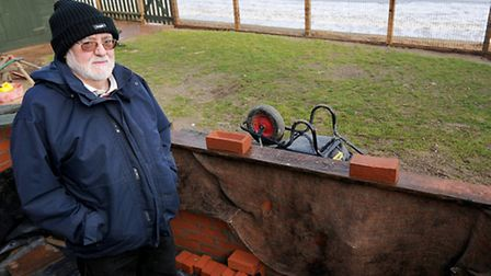 EDP Flood Appeal recipient Byron Cox from Bacton.PHOTO: ANTONY KELLY