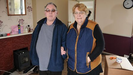 EDP Flood Appeal recipients Dianne and Graham Butterfield.PHOTO: ANTONY KELLY