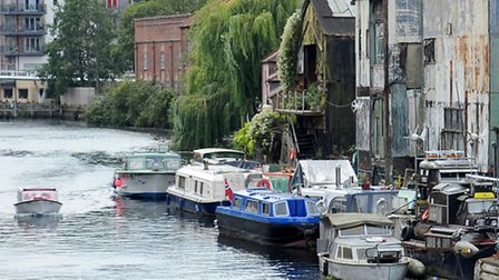 The River Wensum in the city, not far from Carrow Road.