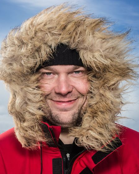Walking with the Wounded: South Pole expedition. Pictured: Duncan Slater, who lives in Scole near Di