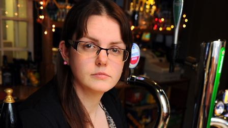 Amy Lemmon who organised a charity night at The Rose in memory of her husband James, who died before