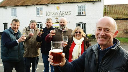 Outside The King's Arms in Shouldham are (from left) Keith Matthews, Alan Austin, Andy Everitt, Nick