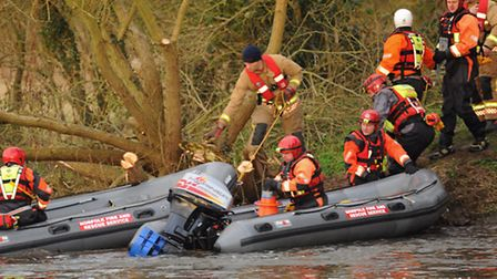 The scene at Costessey Mill, when emergency services searched the area for a missing man. Picture: D