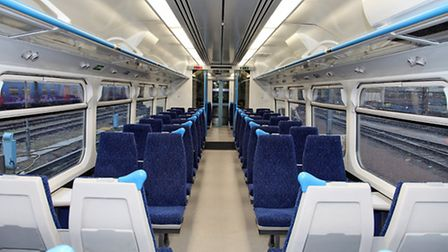 The interior of one of the trains.
