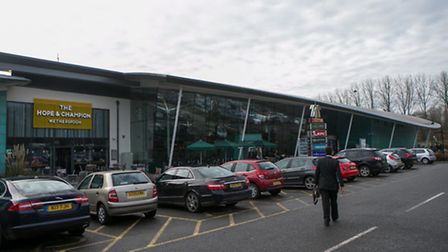 A view of the new JD Wetherspoon pub, the Hope And Champion, which has opened at the M40 Services at