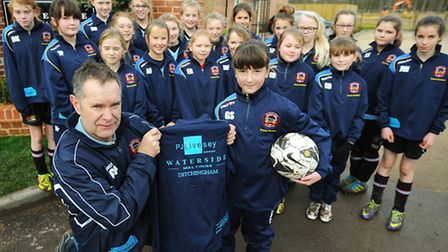Bungay Town FC's ladies and girls football squads are now training in style thanks to support from t
