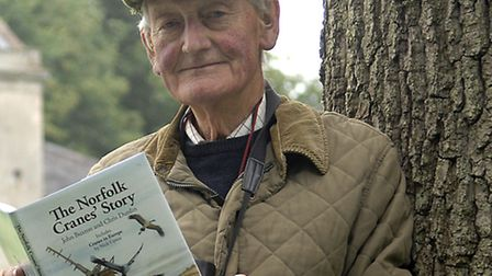 John Buxton has written a book about cranes. The cranes nested at Horsey hall for 400 years and then