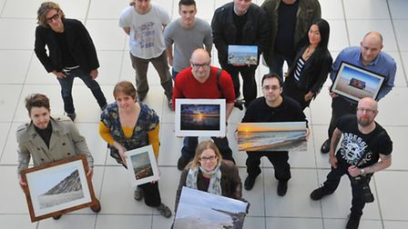 The Surge Collective who are staging a photographic exhibition in the Forum to raise funds for the E