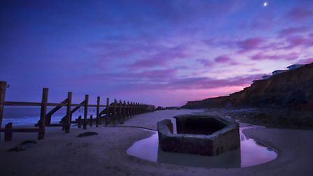 Happisburgh, Sundown, by Nick Stone, which will be sold at the Surge Collective exhibition and sale