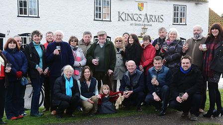 The keys have been handed over to villagers for The King's Arms in Shouldham. Picture: Ian Burt