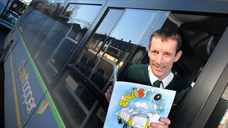 Paul Smart, Coasthopper bus driver and author of Ena's New Home, the story of a bus in north Norfolk