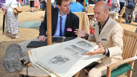 Antiques expert Marc Allum evaluates items from the Archant archive brought to the Antiques Roadshow