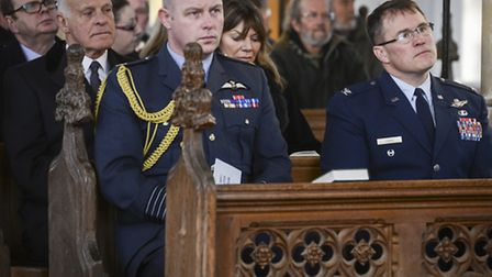 Scenes from the memorial service held at Salthouse Church for the four USAF aircrew, that died in th
