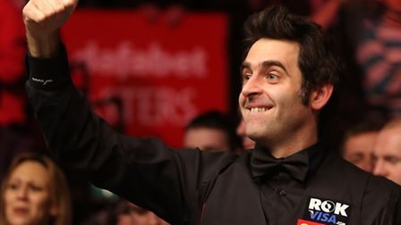 Ronnie O'Sullivan awaits Norwich's Barry Pinches in the second round of the Welsh Open at Newport on