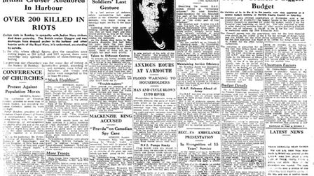 Archive front page: EDP 25 Feb 1946. Photo: Library