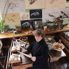Headmistress Sally North has set up a Fish, Fossils, Fur and Fowl exhibition at the Victorian School