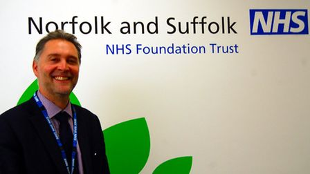 Andrew Hopkins, acting chief executive of Norfolk and Suffolk NHS Foundation Trust.