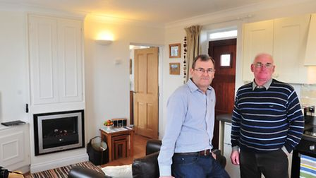 David Challis and Chris Read have converted a former toilet block in Pakefield into a holiday cottag
