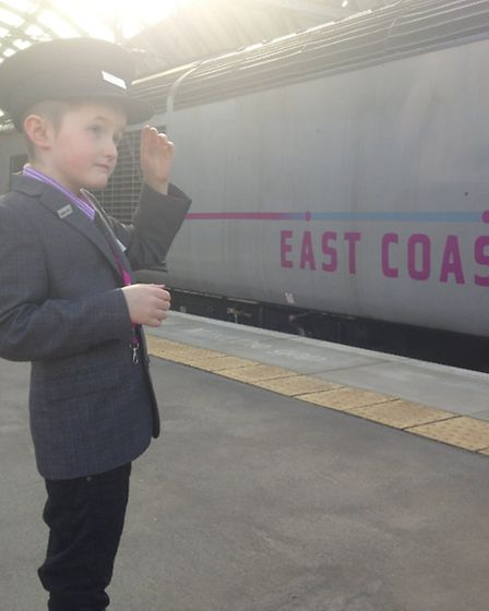 Charlie Baker, 8, of Norwich, enjoyed a dream day out thanks to East Coast Trains