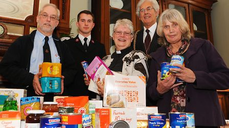 Launch of the Great Yarmouth Foodbank. Great Yarmouth Foodbank, run by volunteers and supported by t