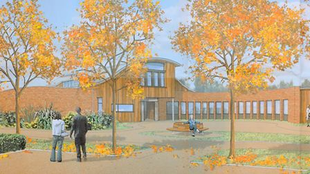 Artist drawing of the proposed East Coast Hospice off Sidegate Road, Gorleston.Picture: James Bass