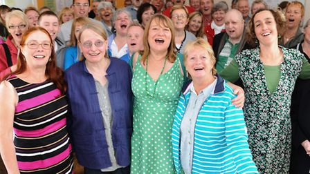 Members of the Sing Your Heart Out group. Picture: Denise Bradley