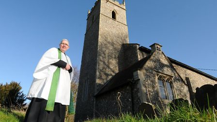 Thornage church is to get a new toilet and tea-making point. Rev Barry Tomlinson.PHOTO: ANTONY KELLY