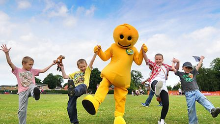 A scene from last year's North Walsham Fun Day. Left to right, Callum Olley 7, Bradley Coop 8, Ella