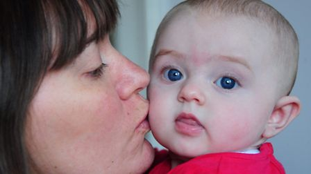 Tara Greaves, who is getting used to being a mum to her daughter Freya. Picture: Simon Finlay