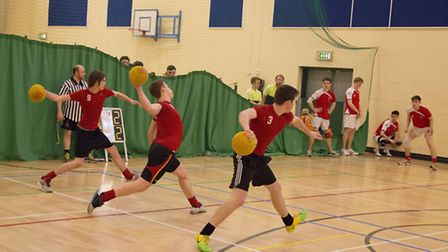 Reepham Raiders in action during the fourth round of the UK Dodgeball Association Premier League at