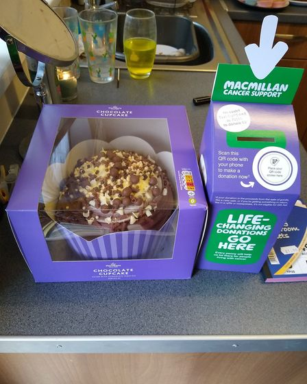 Tracey hosted a Macmillan coffee morning to raise money for the charity in Fakenham. Picture: Tracey