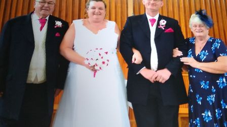 Tracey and Andy Brasier with her parnets David and Jean. Picture: Tracey Brasier