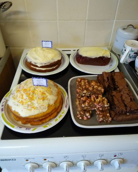 Tracey hosted a Macmillan coffee morning to raise money for the charity in Fakenham.. Picture: Trace