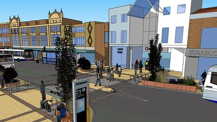 An artist's impression of how St Stephens Street could look if a proposed revamp goes ahead. Pic: No