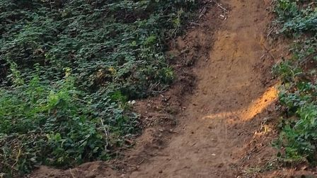 Known as the 'Beehives', Justin Wakefield spent two weeks cleaning up the track which is found just