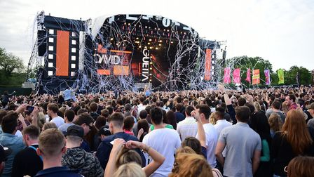 Crowds at the Radio 1 Big Weekend at Earlham Park but coronavirus has stopped all mass agetherings h