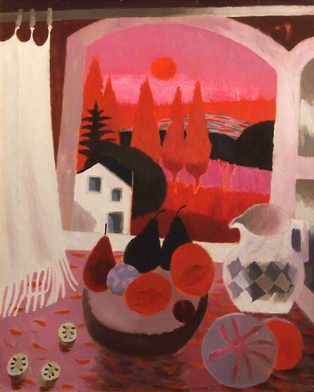 Sunset in France by Mary Fedden, which has a pre-sale estimate 7,000-10,000 and is part of the Archa